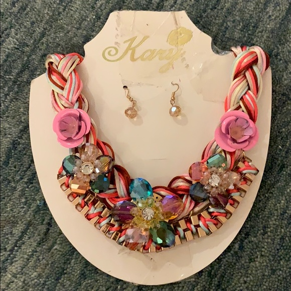 Kary Hand Made Necklace with Earrings